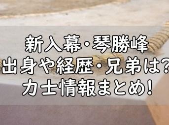 琴勝峰 出身 中学 兄弟 弟 琴ノ若 プロフィール まとめ