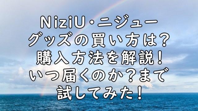 NiziU グッズ 買い方 購入方法 画像