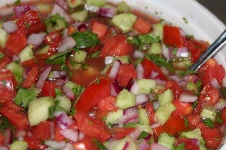 tomato cucumber mint salad