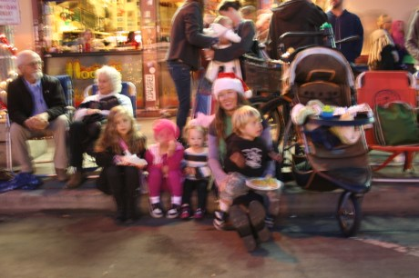 Eli and his friends Watching the Parade