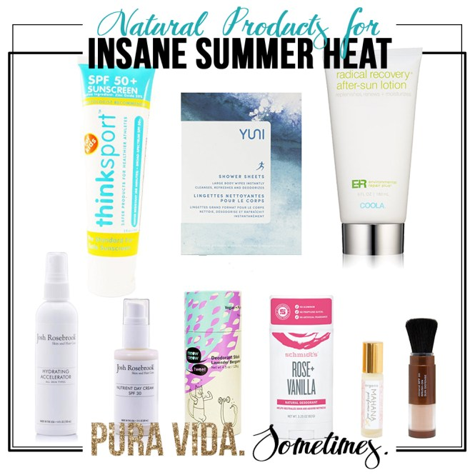 Natural Products for Heat - Pura Vida Sometimes