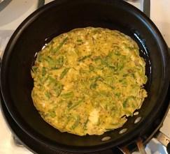 popocorn shoots & green tapenade coddled eggs