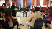 Mr Rowland-Jones coaching Mendelssohn Octet, Mar 2015 Photo © Charles Sewart 2015