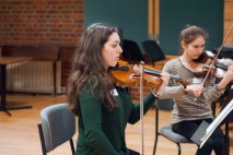 Deep concentration playing Debussy String Quartet, Nov 2014 Photo © Chloe Hayes