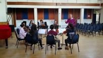 Mr Garfield Jackson coaching Mendelssohn Octet