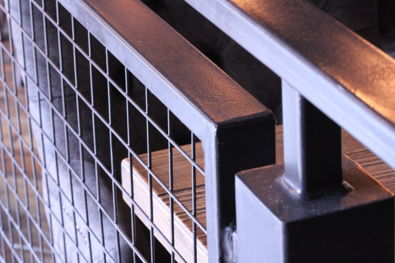 Indoor Railing with Mesh Infill (5)