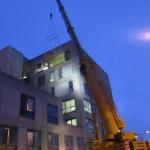 Lifting Platform in use at Limerick Regional Hospital Extension