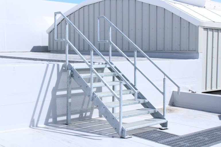 Mild steel galvanised stairs and balustrade