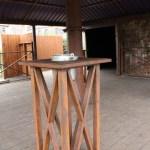 Outdoor Smoking Area (9) Painted Rust Effect Bin Holders