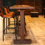Painted Rust Effect High Top Table Base (3)
