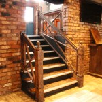 Painted Rust Effect Stairs Railing (2)