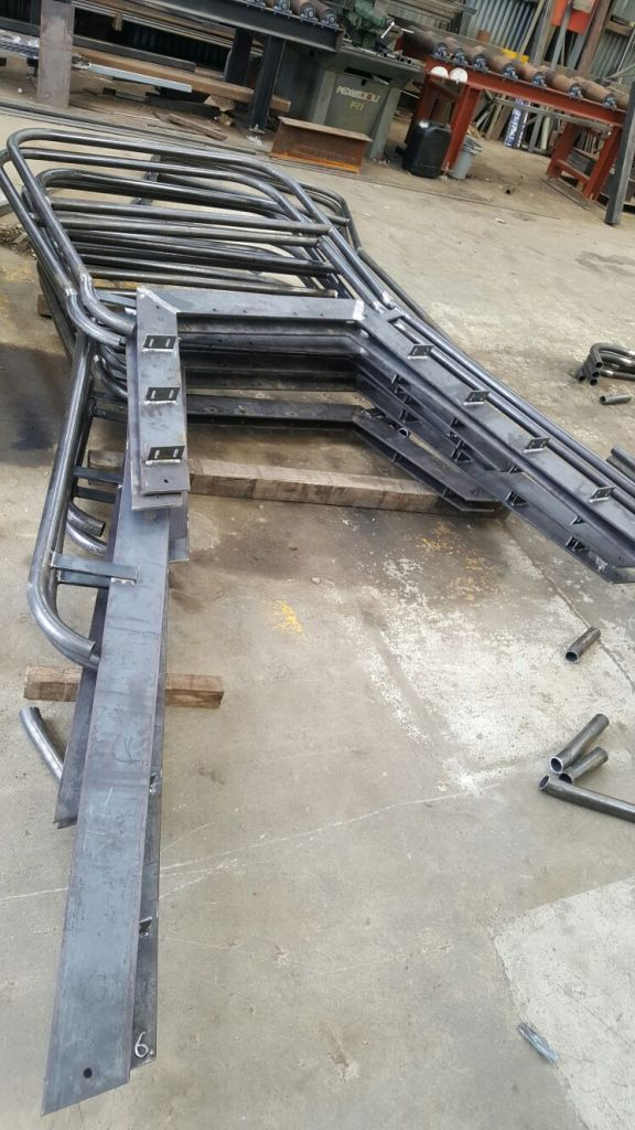 3 - Railings ready for galvanising