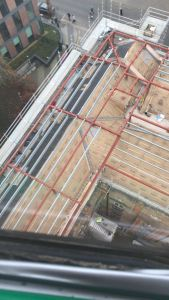 Clayton Hotel Ballsbridge partial completion of hip roof detail