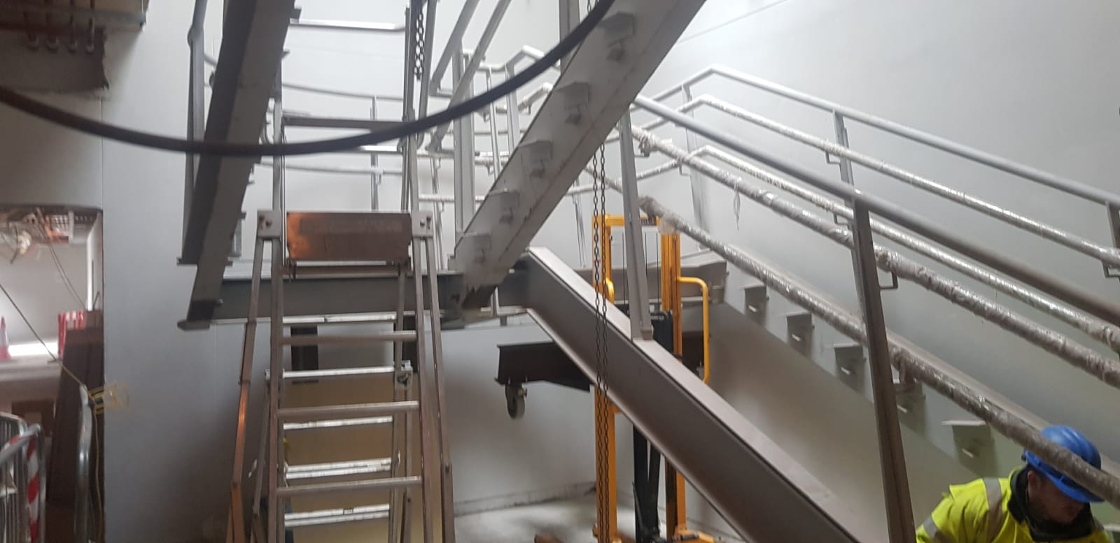 4 - Installation of feature stairs Peamount Hospital