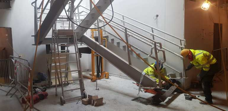 6 - Installation of feature stairs Peamount Hospital