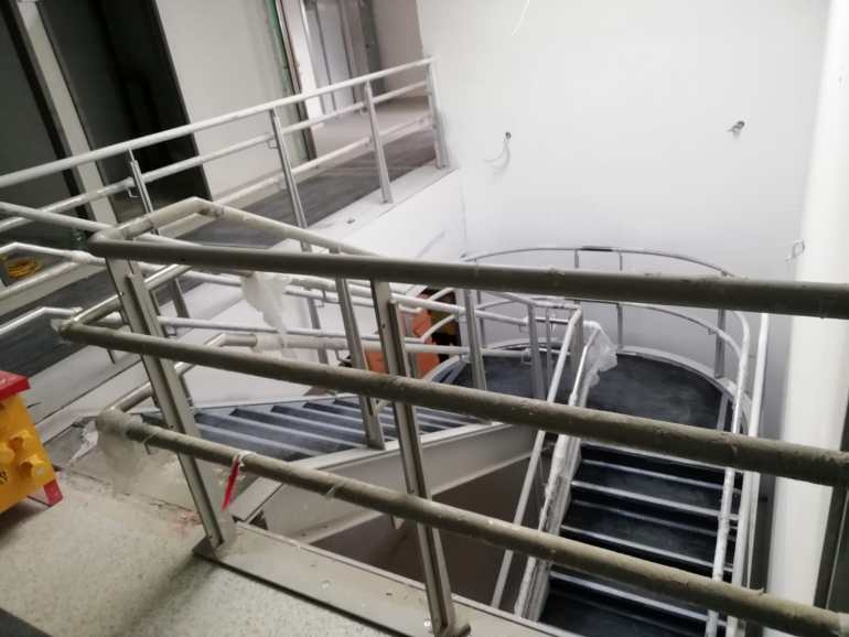 7 - Installation of feature stairs Peamount Hospital