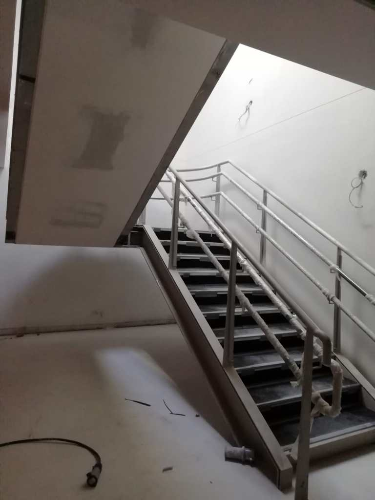 8 - Installation of feature stairs Peamount Hospital