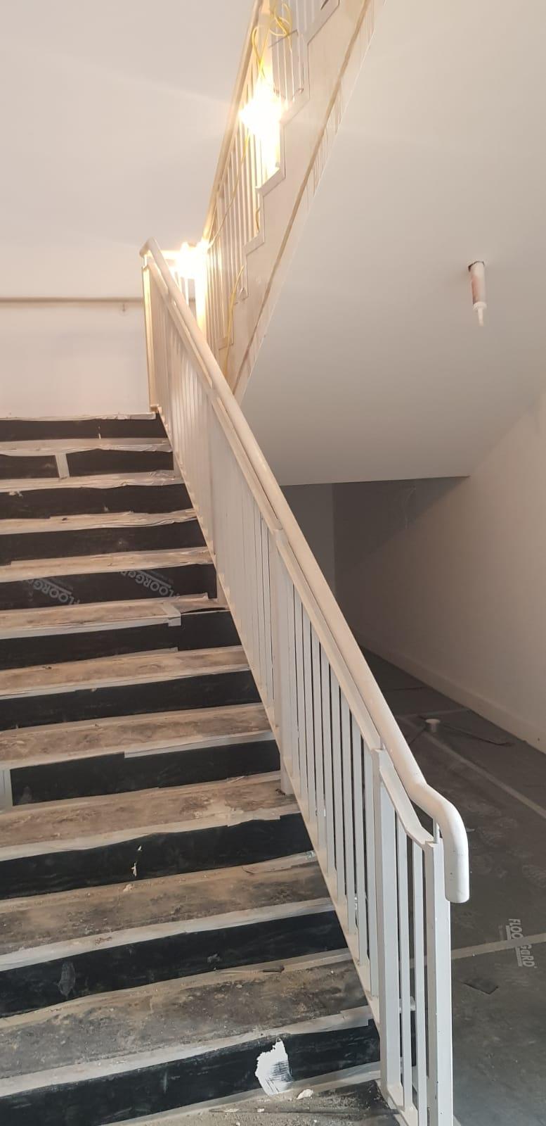 Back stair case installation 2