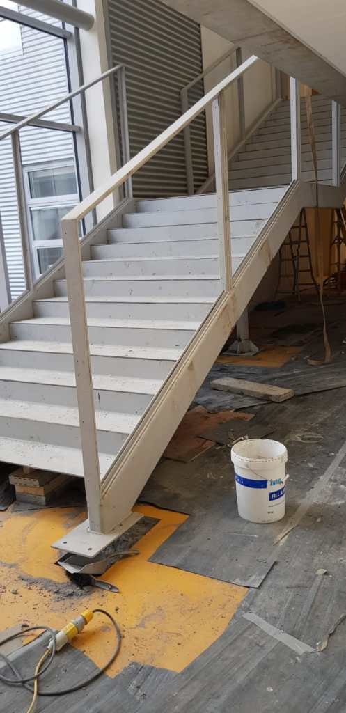 Installation of feature stair case in a school (3)