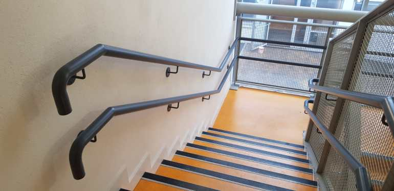 Stair Core hand rail, balustrade installation (4)