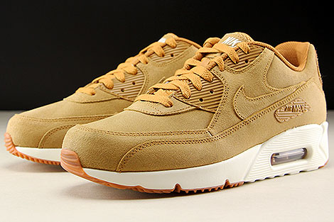 Nike Air Max 90 Ultra 2 0 Ltr Flax Sail Gum Medium Brown 924447 200 Purchaze