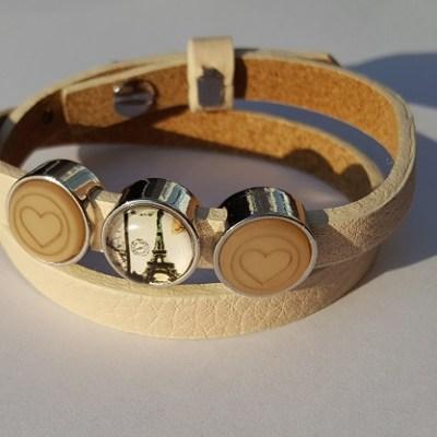 cuoio armband off white - bruin