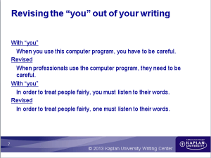 Revise you out of your writing