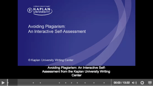 (c) Kaplan University Writing Center