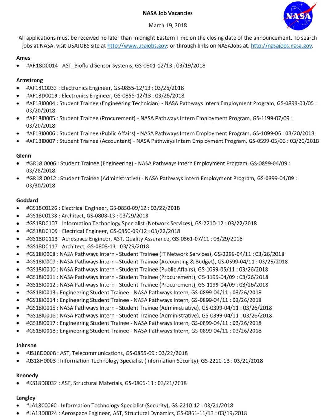 NASA Job Vacancies-1