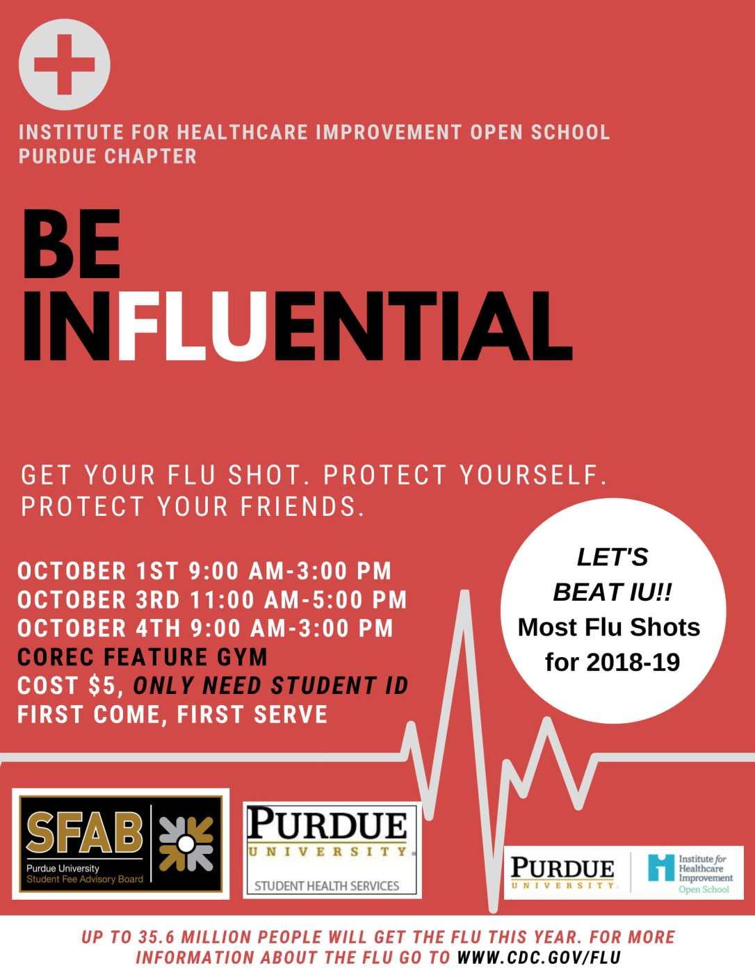 Flu Clinic Flyer Beat IU-1