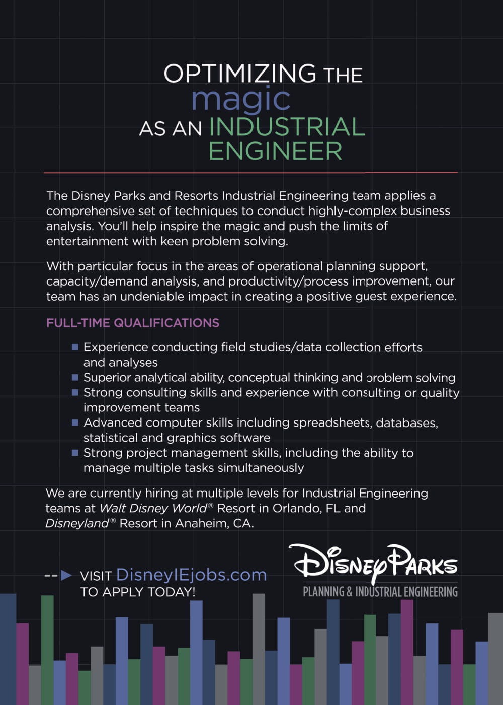 Disney Parks IE Full-Time & Intern Positions – Undergraduate Blog