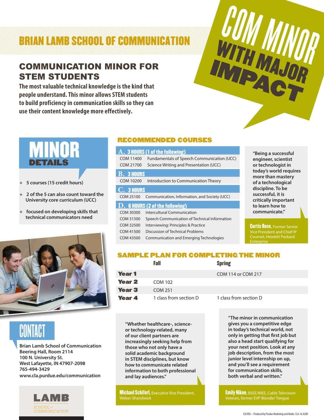 COM Minor for STEM students_Flyer-1