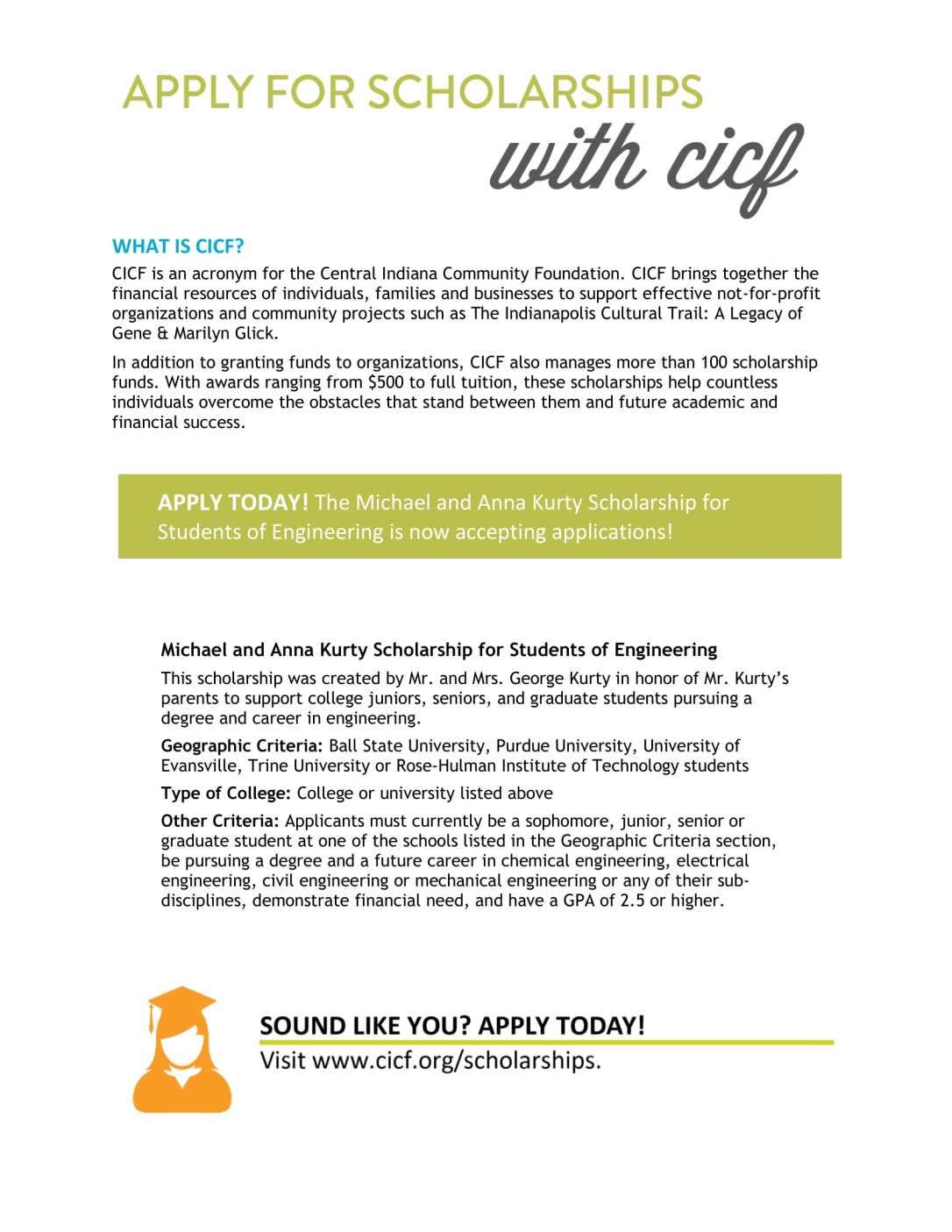 CICF Kurty Engineering Scholarship Flyer-1