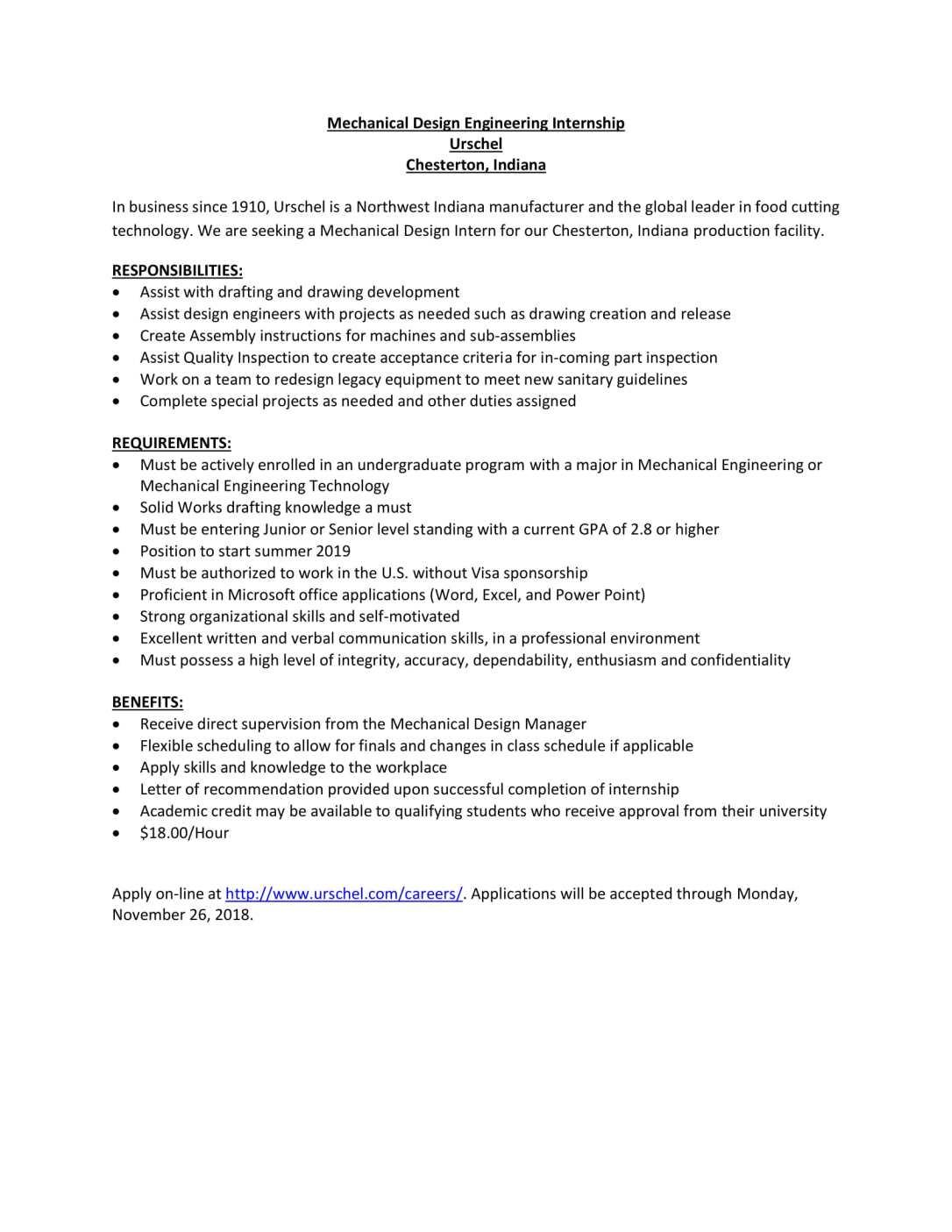Mechanical Design Engineering Internship-1