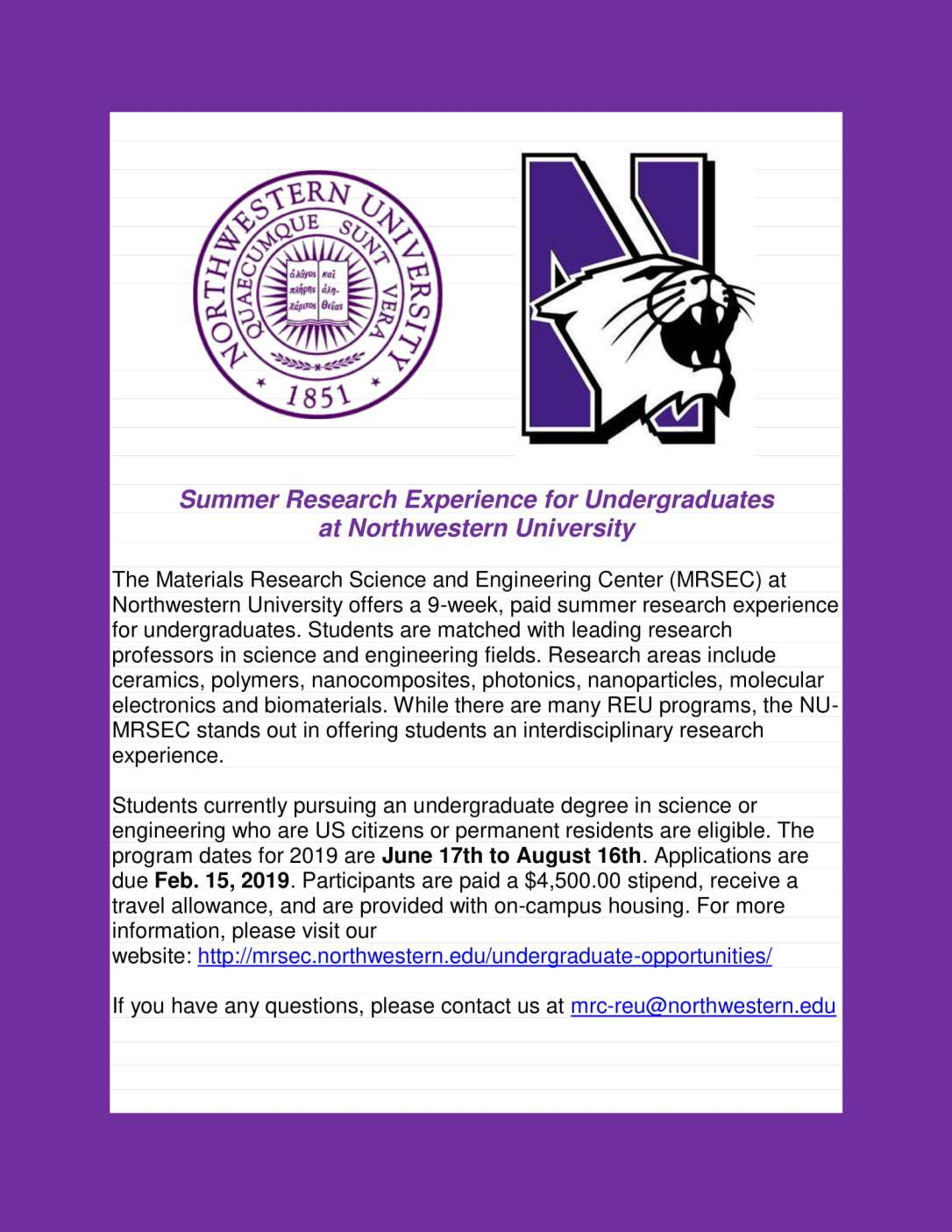 Northwestern Summer Research Experience-1