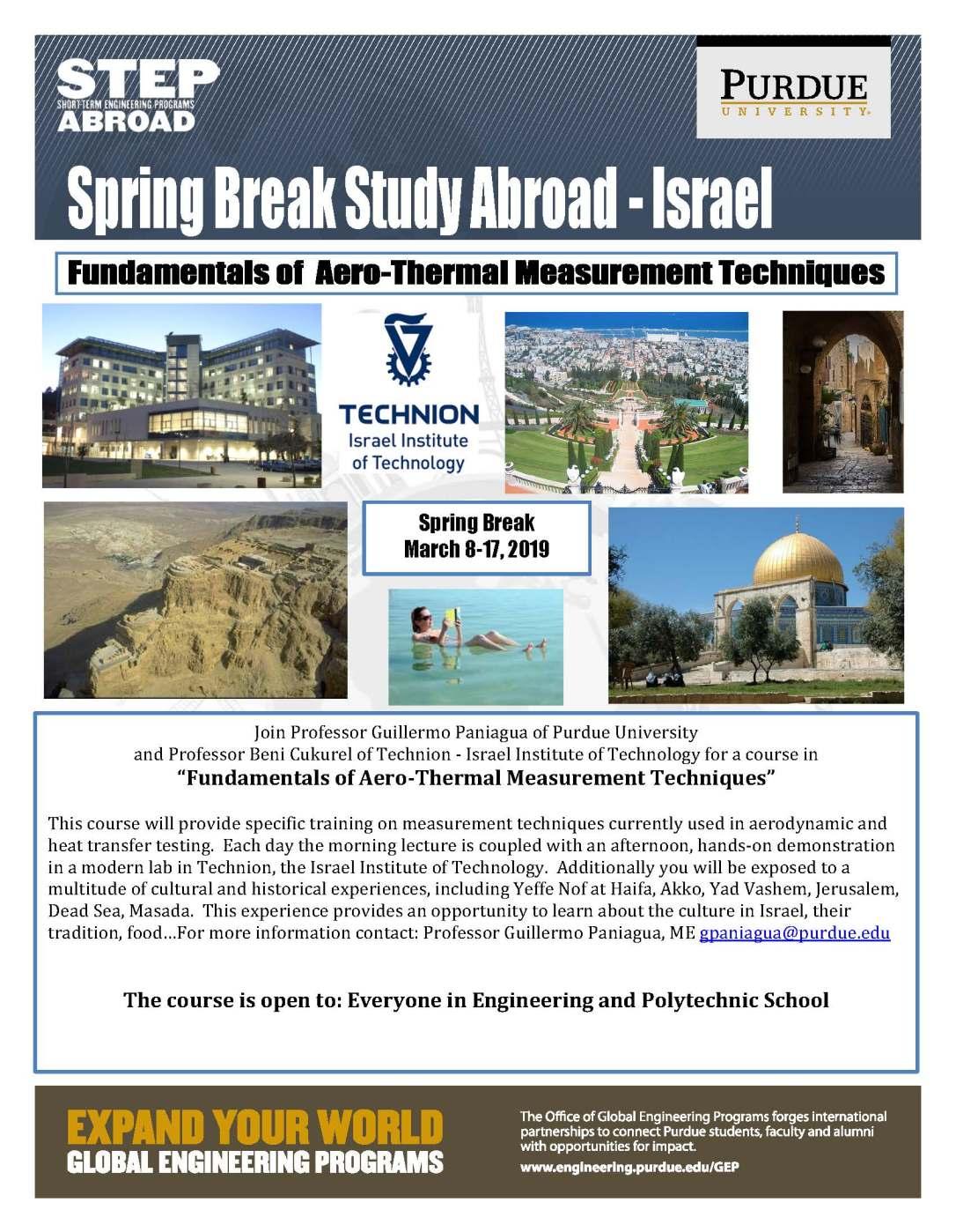 Revised 2019 Israel Flyer