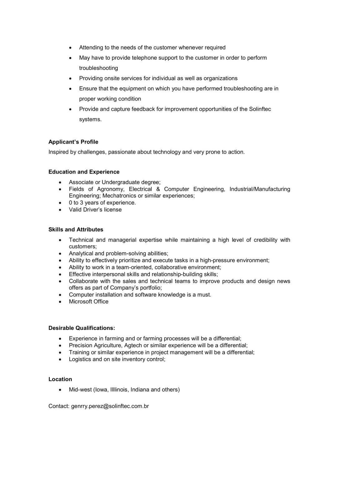 SOLINFTEC - Project Implementation Analyst-2
