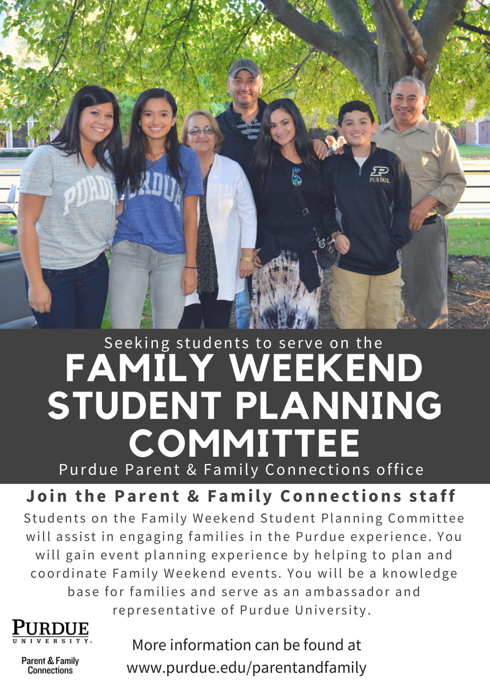 Family Weekend Student Planning Committee - 2019 Callout-1