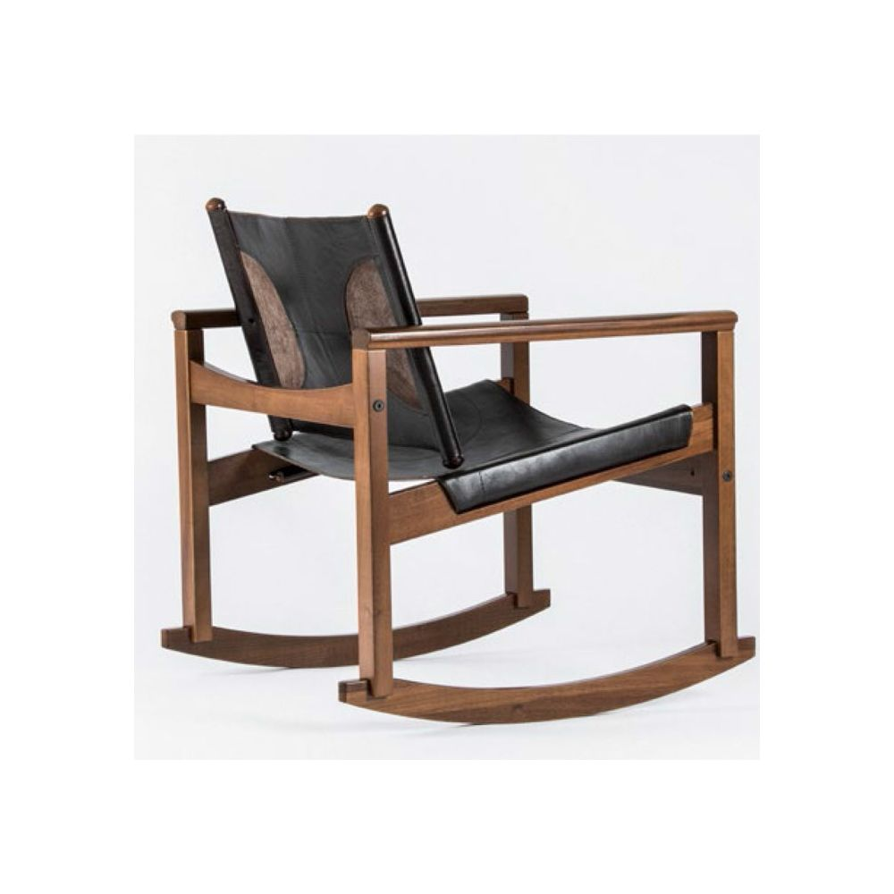 Leather Rocking Chair Peglev Leather Rocking Chair