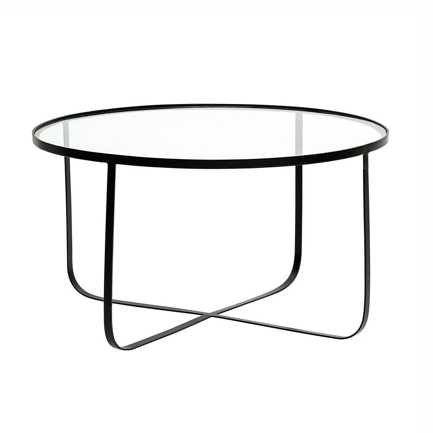 Bloominville Round Glass And Metal Coffee Table Harper Tempered Glass Table