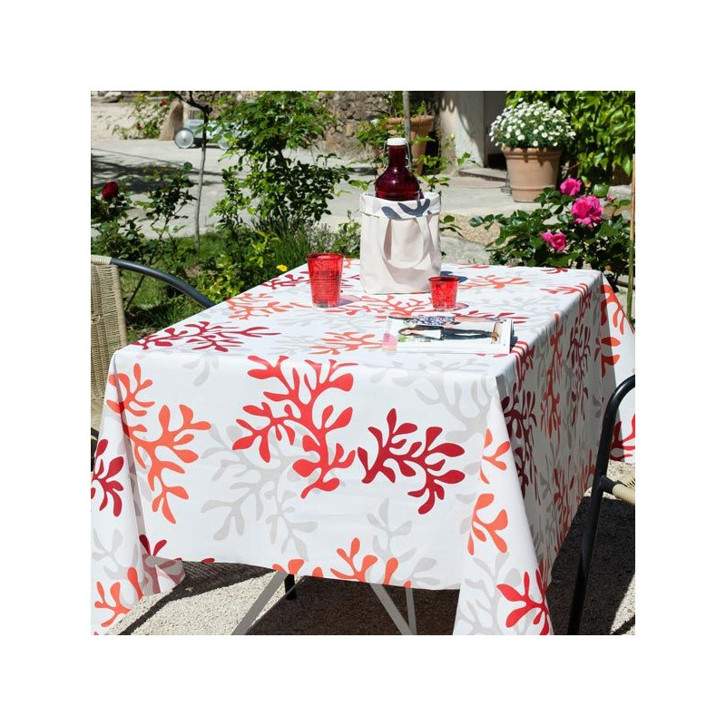 acrylic chairs with cushions blues clues thinking chair coated tablecloth red coral