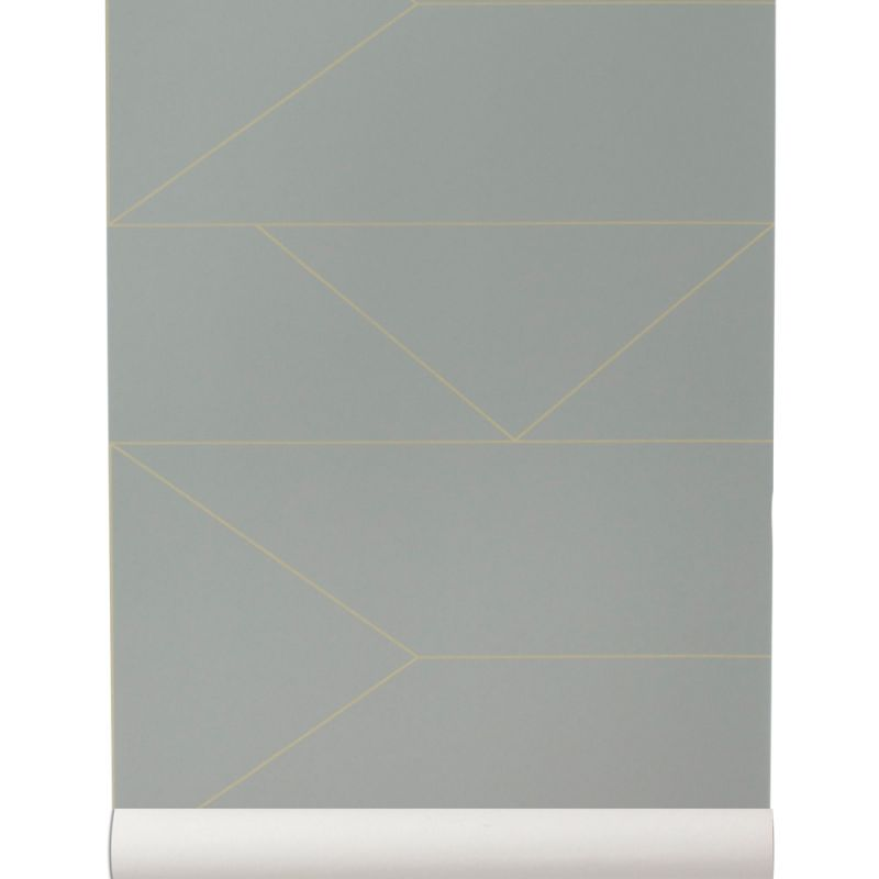 Nonwoven gray and gold walllpaper  Lines collection by