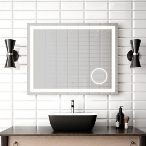 Miroir rectangulaire au LED