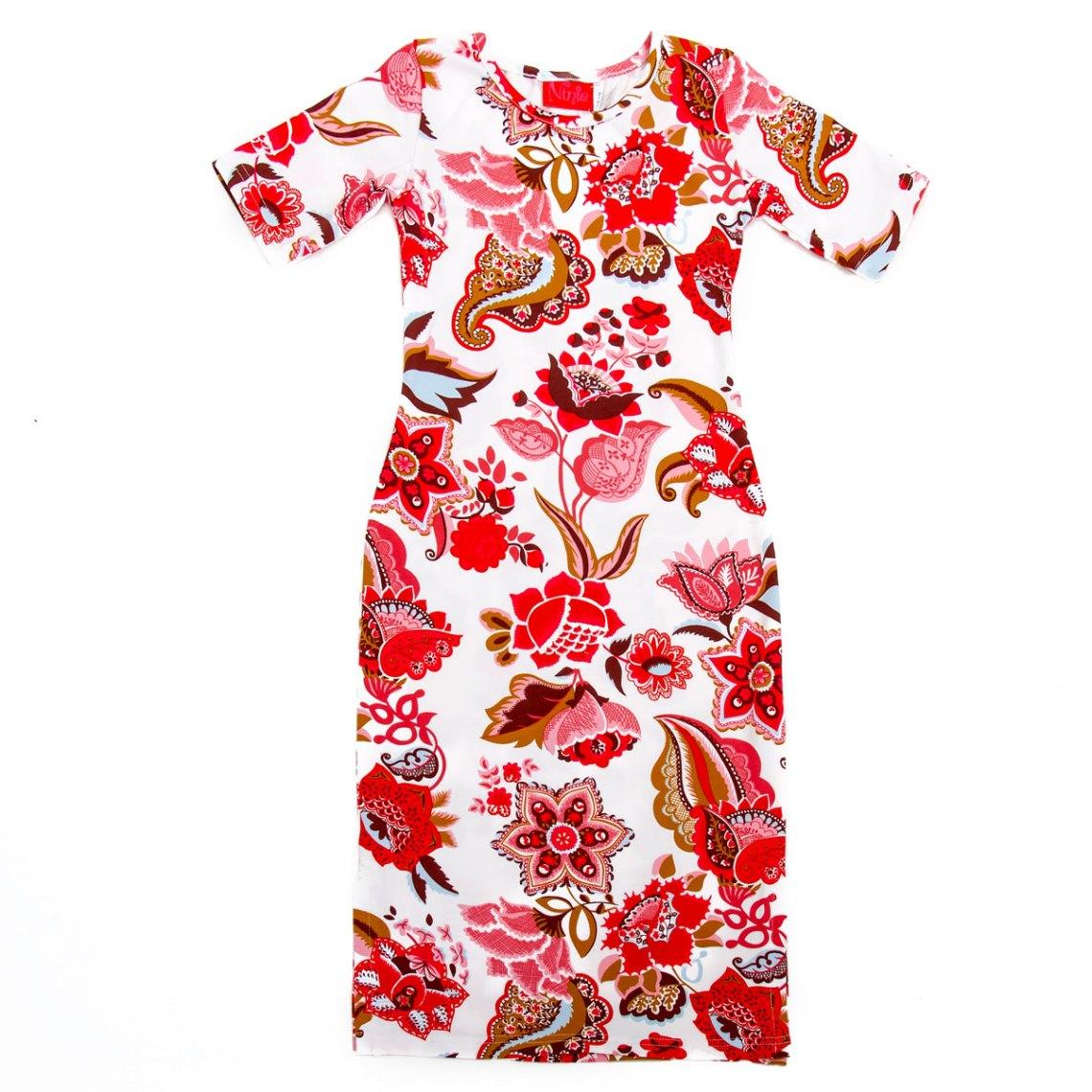 ninie maxi jurk wit bloem