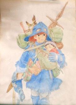 子を抱くナウシカ