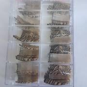 light brown zebra print nail