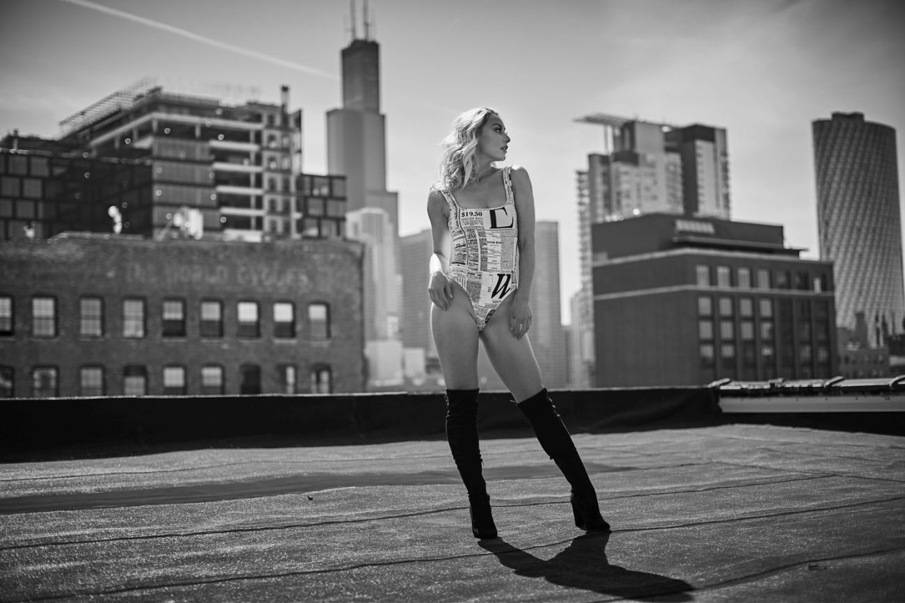 chicago outdoor boudoir skyline - Body Positive and How Boudoir Can Help You Improve Your Relationship with Your Body