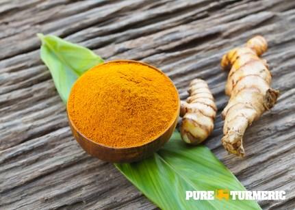 Turmeric powder, leaf and root