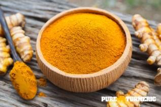 Pure Turmeric Powder in Bowl