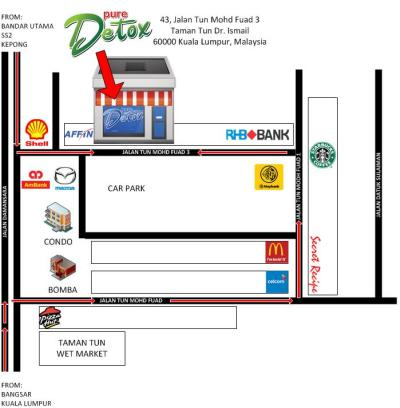 Directions to Pure Detox TTDI